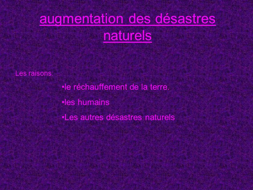 augmentation des désastres naturels