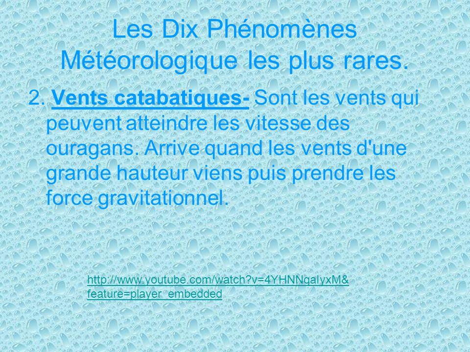 Les Dix Phénomènes Météorologique les plus rares.