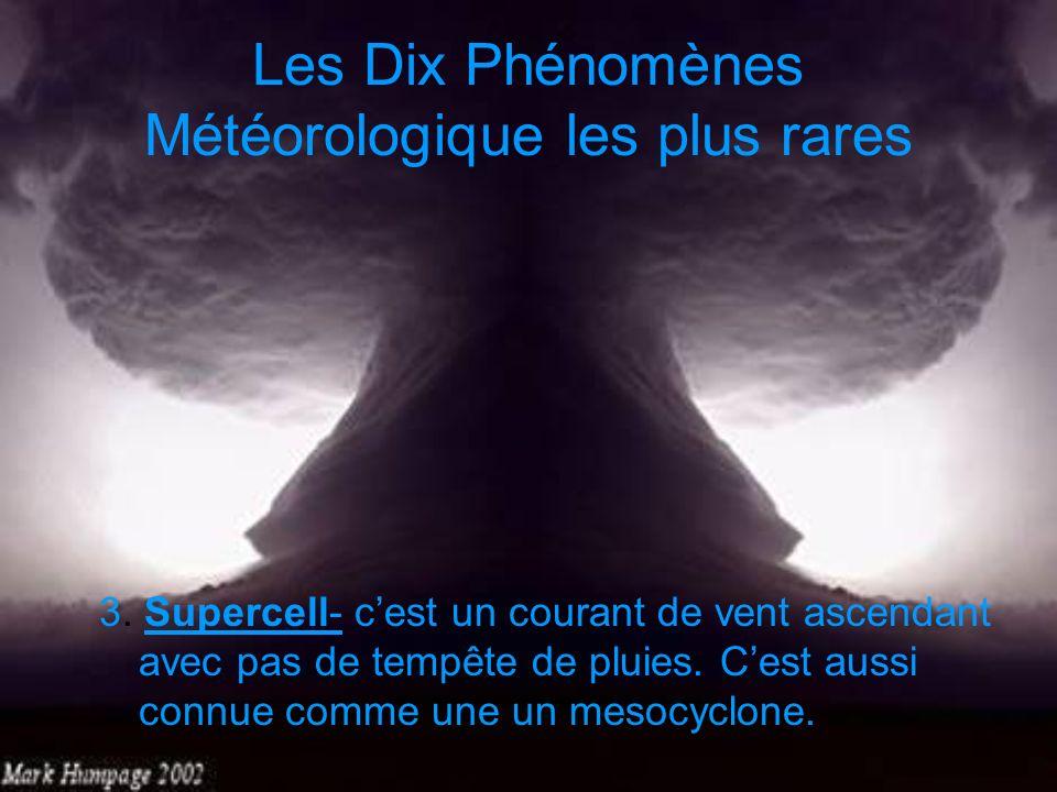 Les Dix Phénomènes Météorologique les plus rares