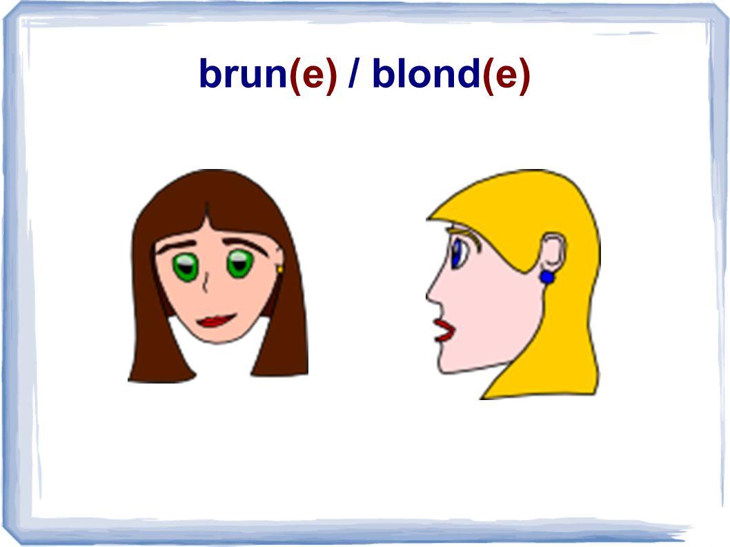 brun(e) / blond(e)