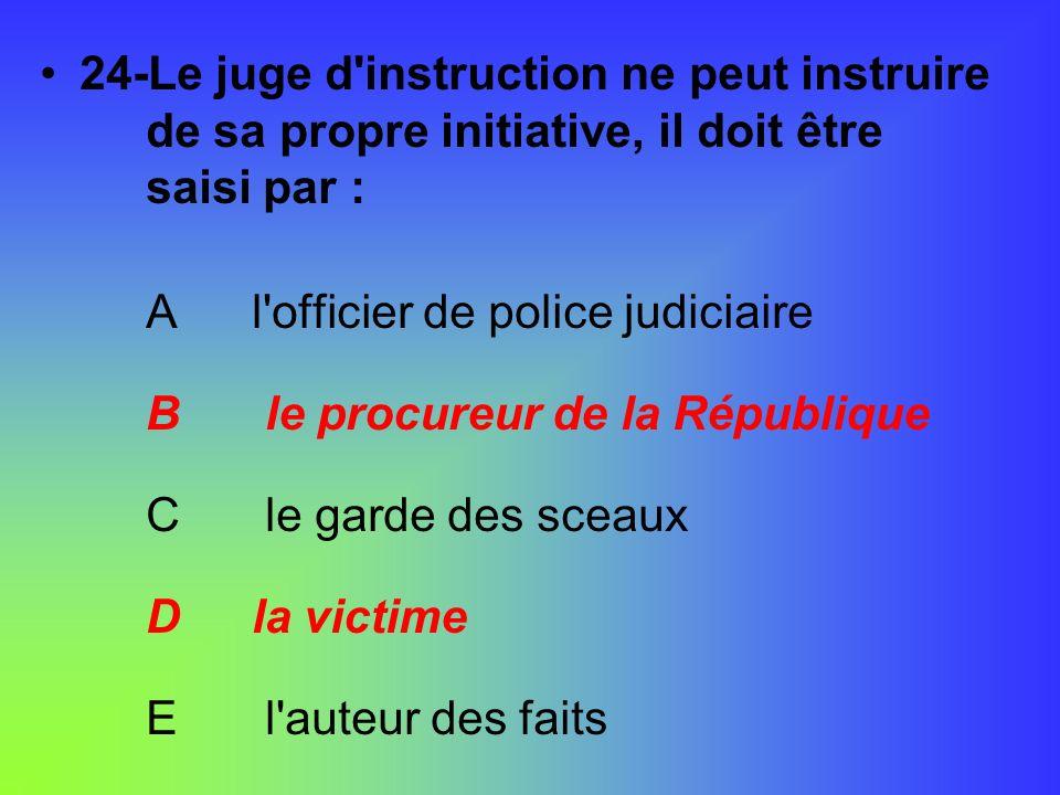 24-Le juge d instruction ne peut instruire