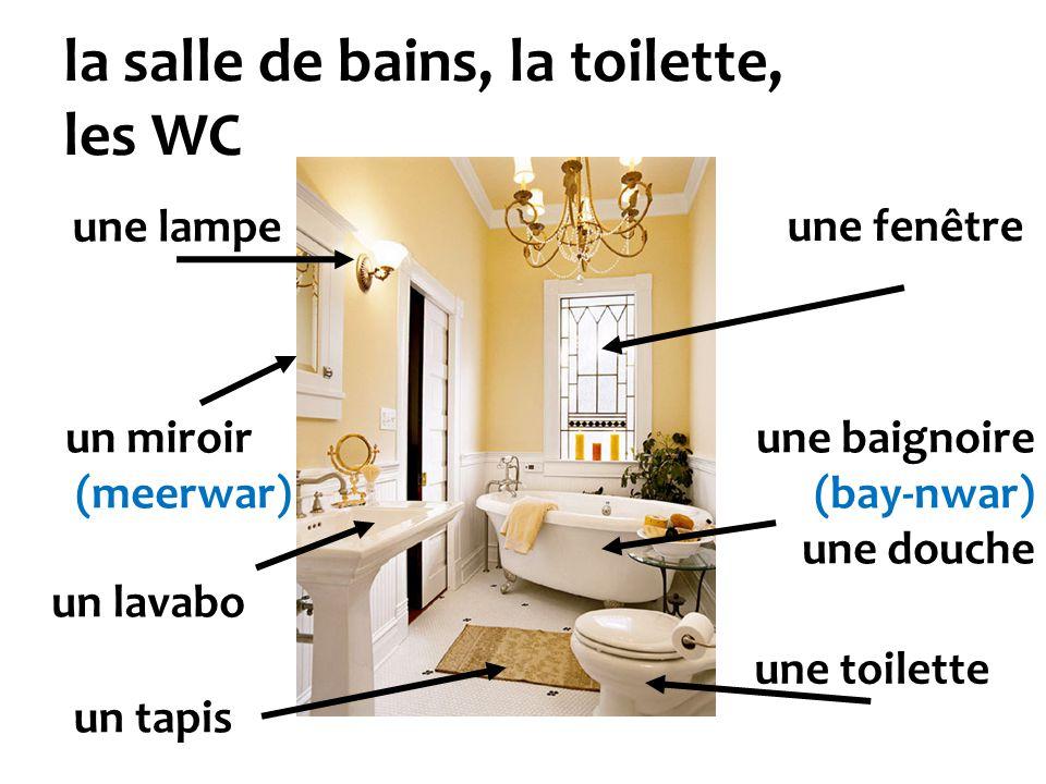 la salle de bains, la toilette, les WC
