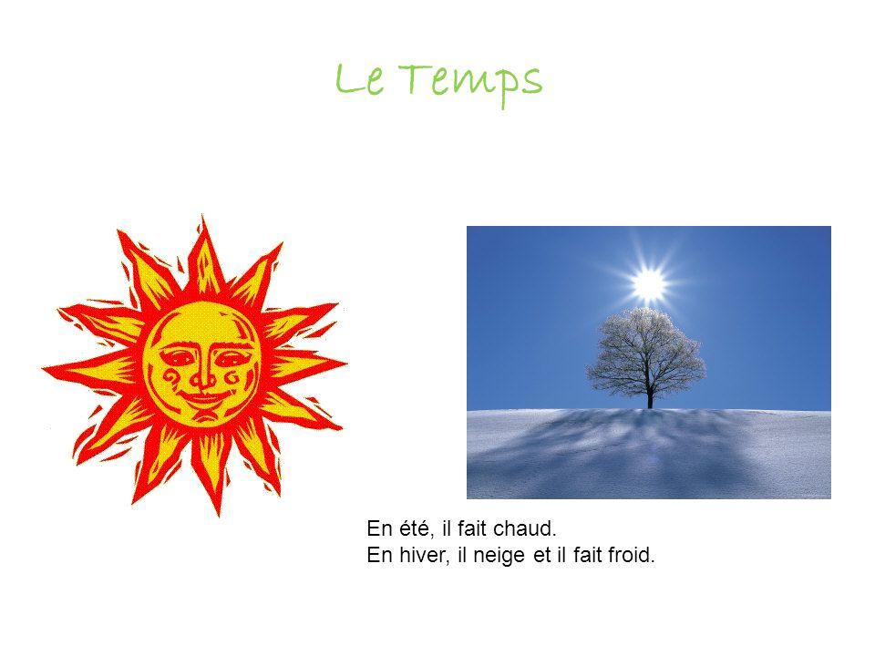 Le Temps En été, il fait chaud. En hiver, il neige et il fait froid.