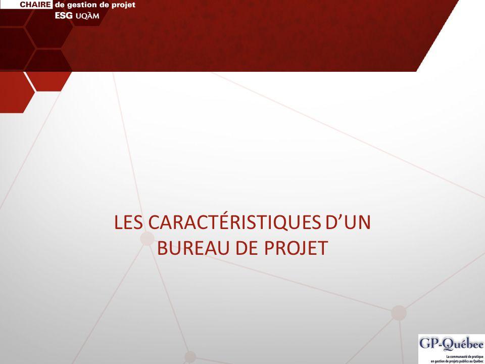 LES CARACTÉRISTIQUES D'UN BUREAU DE PROJET