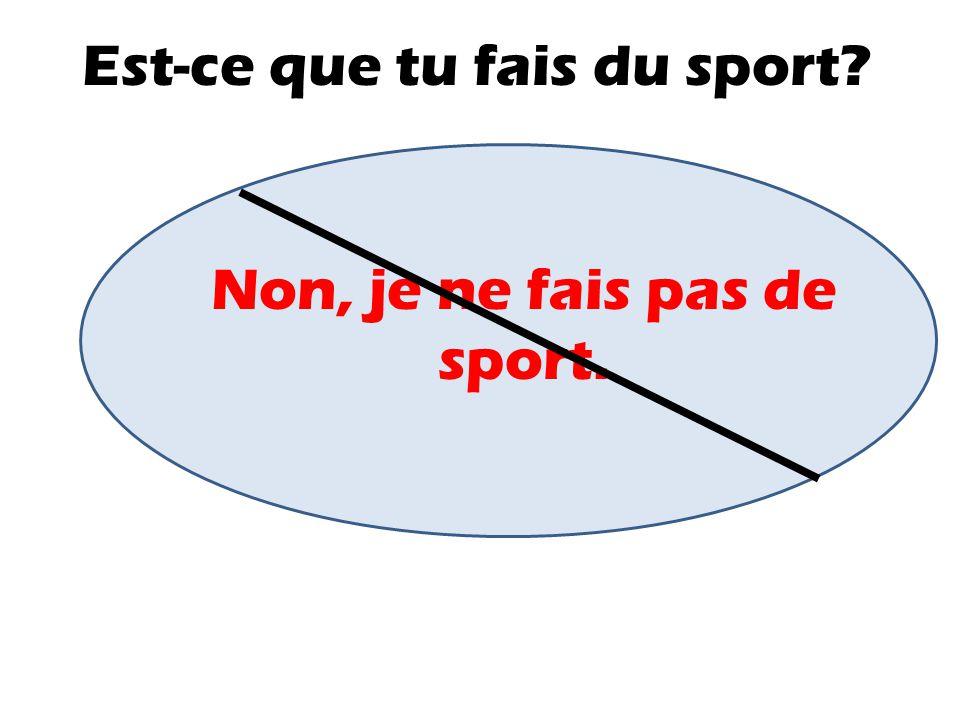 Est-ce que tu fais du sport