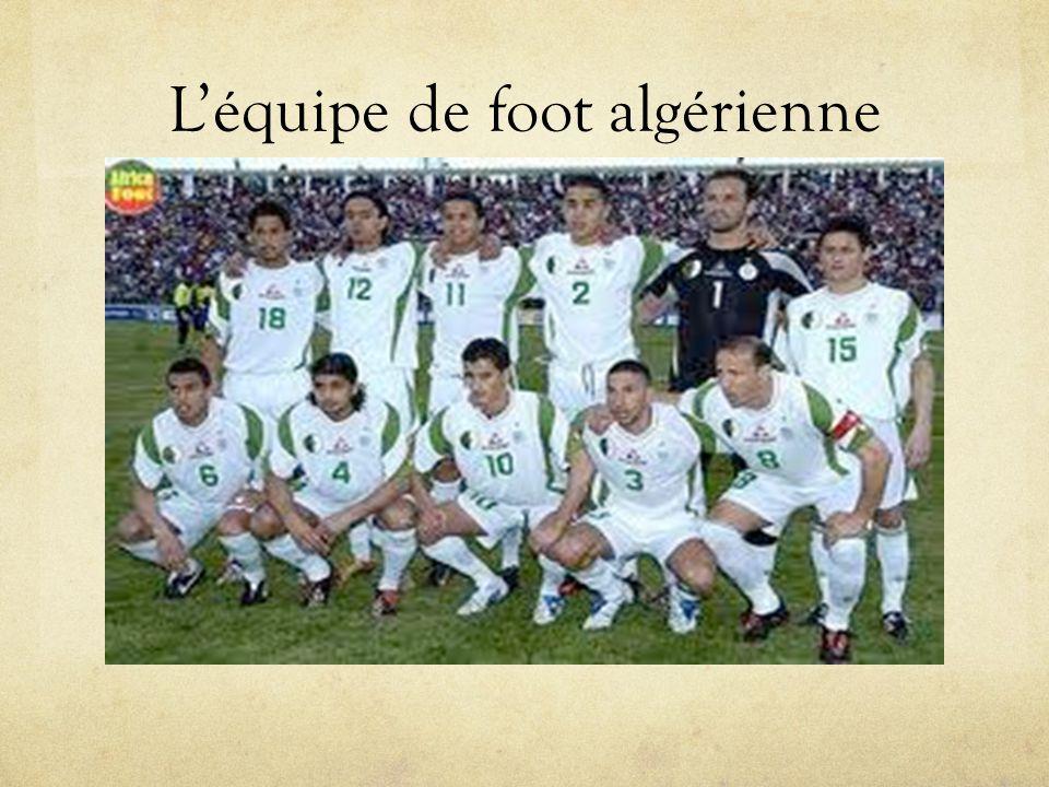 L'équipe de foot algérienne