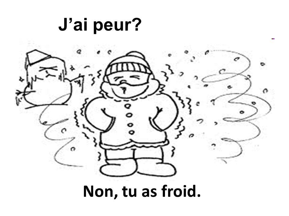 J'ai peur Non, tu as froid.