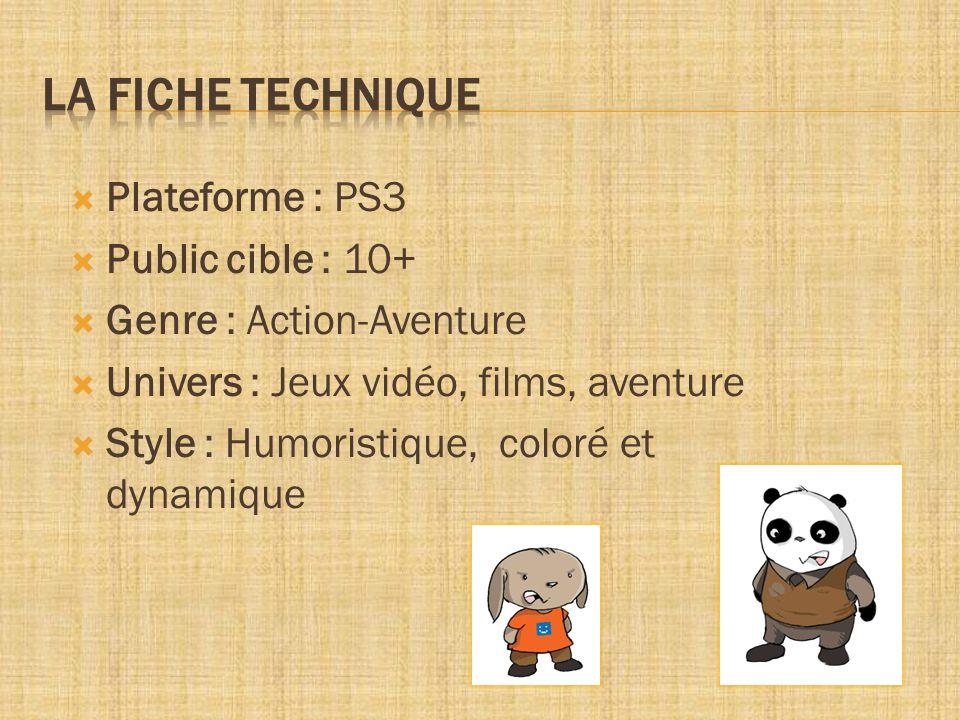 LA FICHE TECHNIQUE Plateforme : PS3 Public cible : 10+
