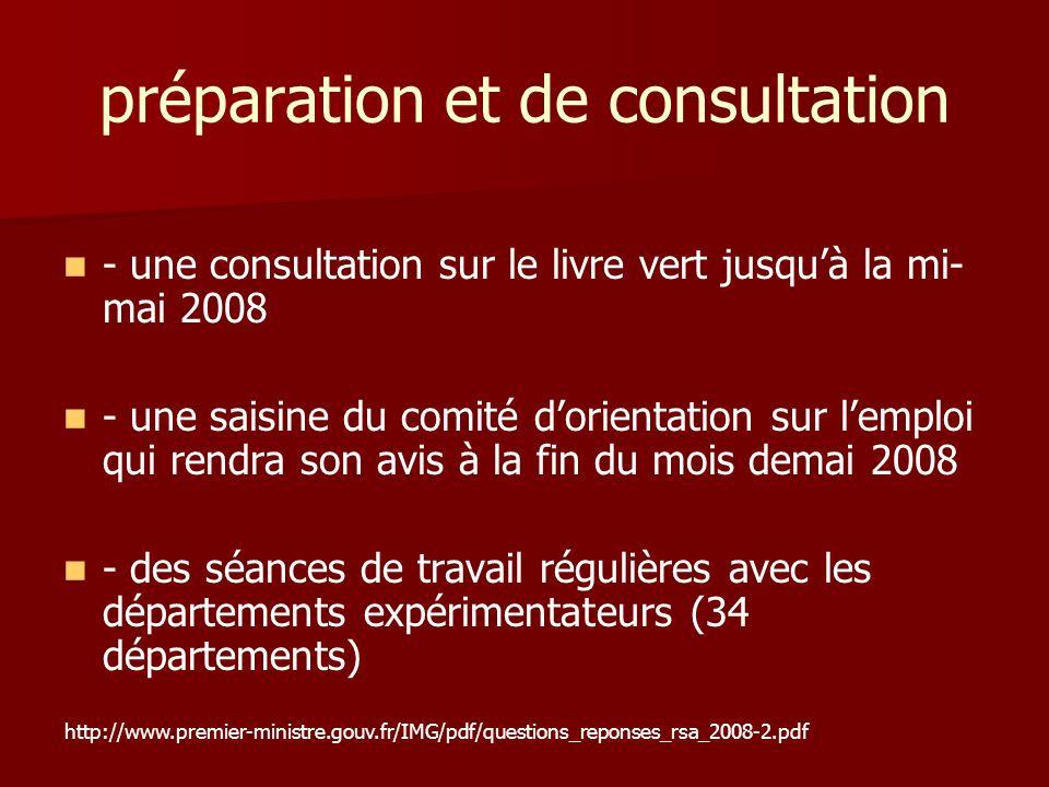 préparation et de consultation