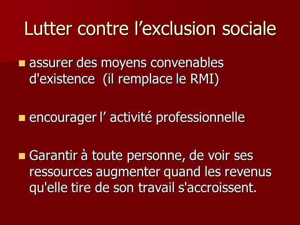 Lutter contre l'exclusion sociale
