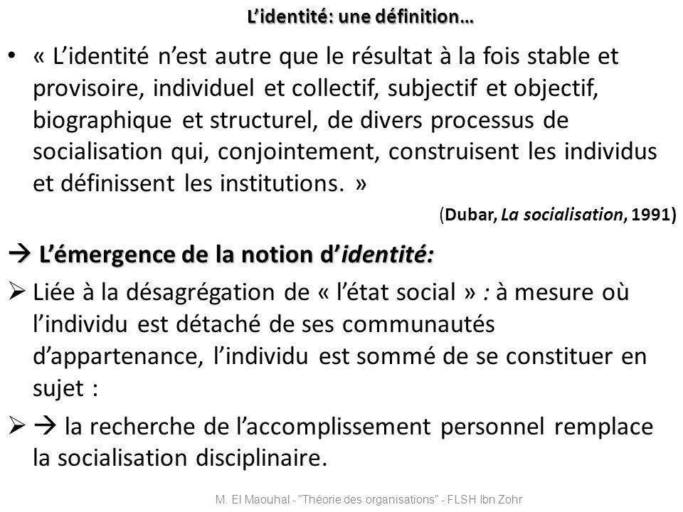 L'identité: une définition…