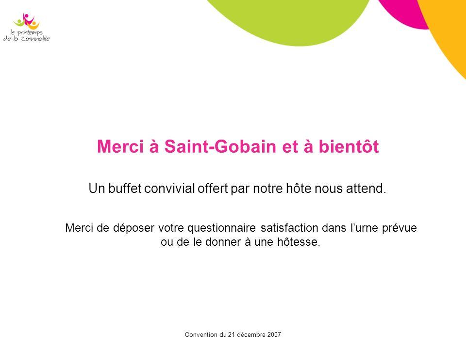 Merci à Saint-Gobain et à bientôt