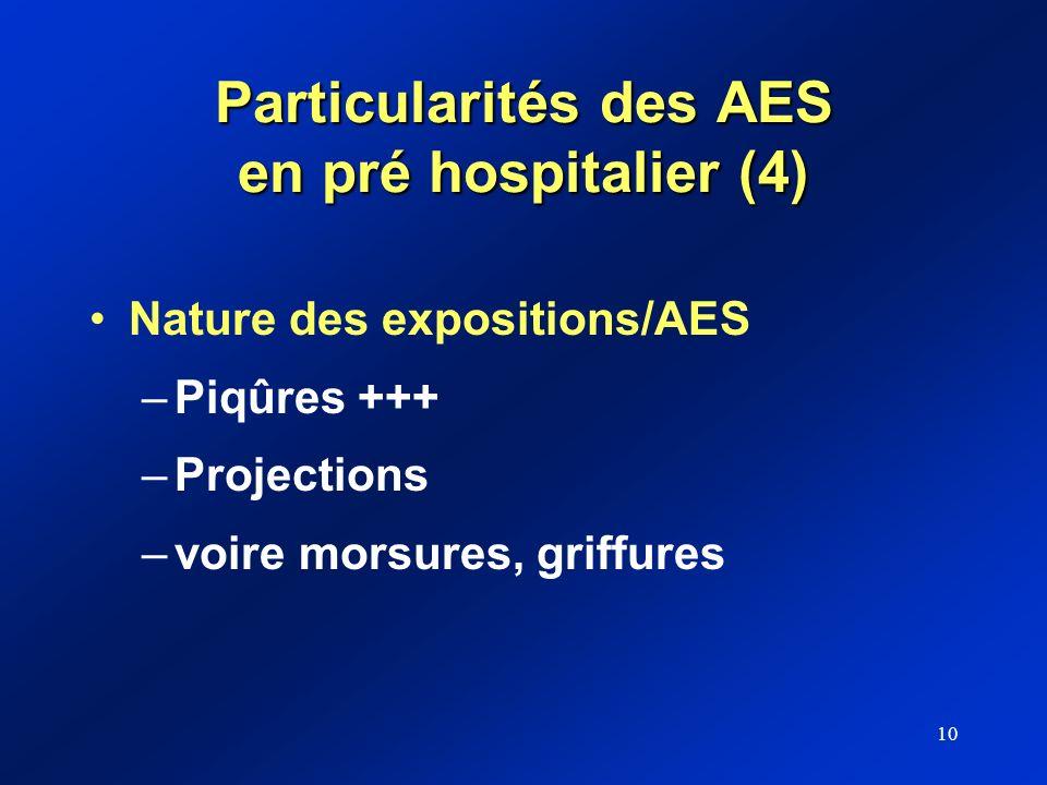 Particularités des AES en pré hospitalier (4)