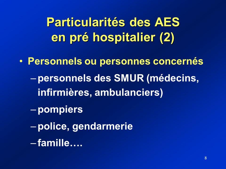 Particularités des AES en pré hospitalier (2)