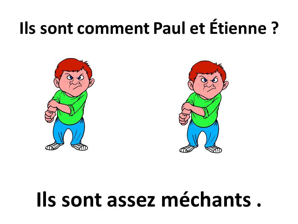 Ils sont comment Paul et Étienne