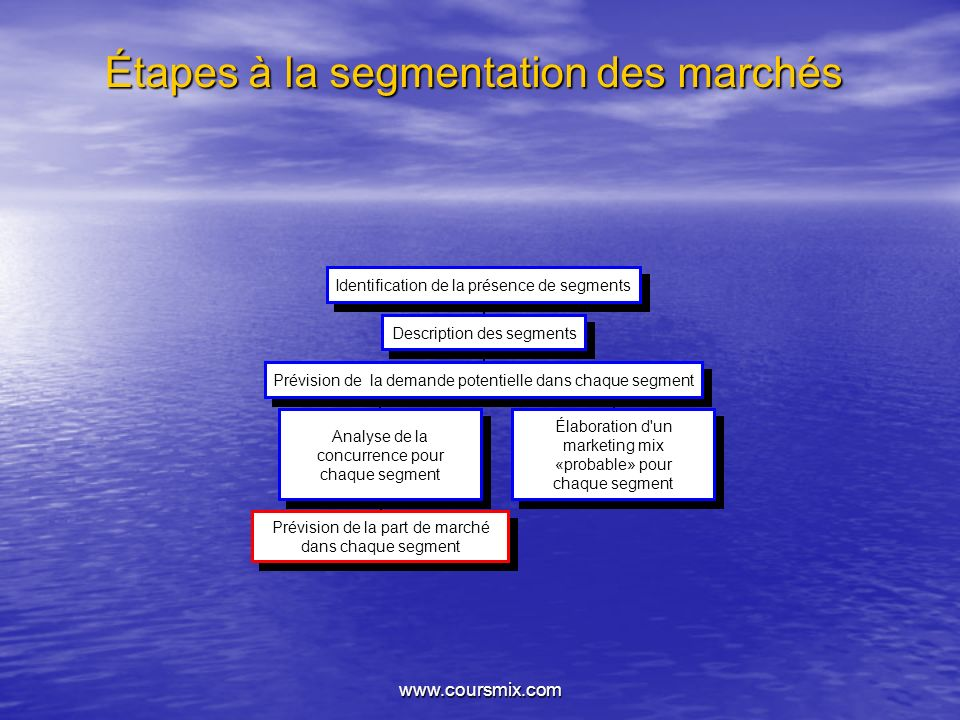 Étapes à la segmentation des marchés