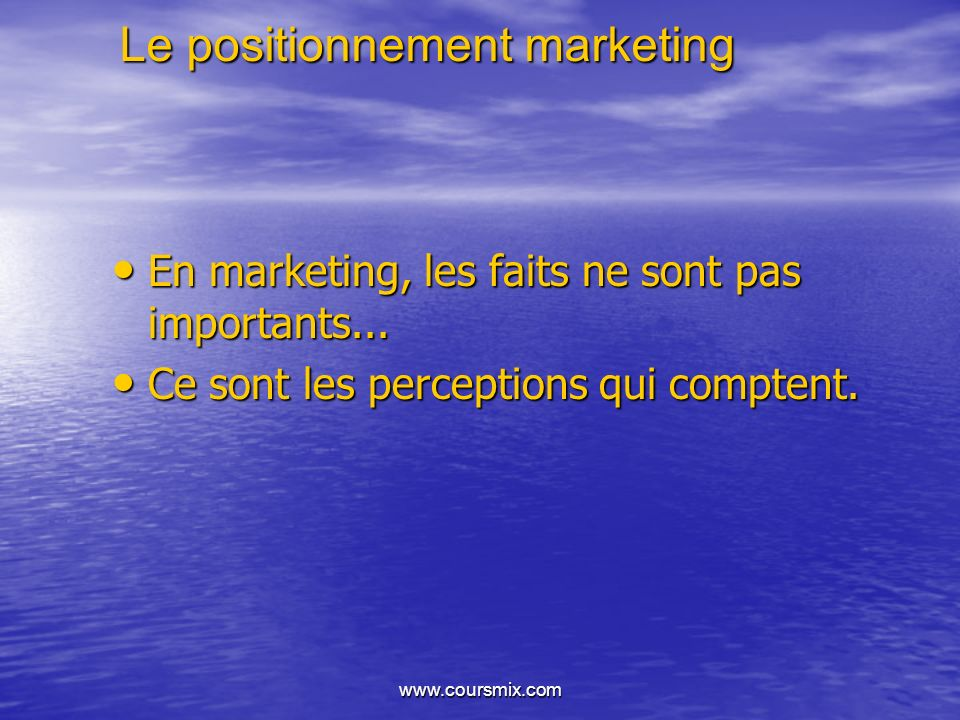 Le positionnement marketing