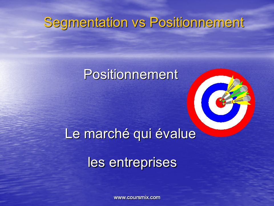 Segmentation vs Positionnement