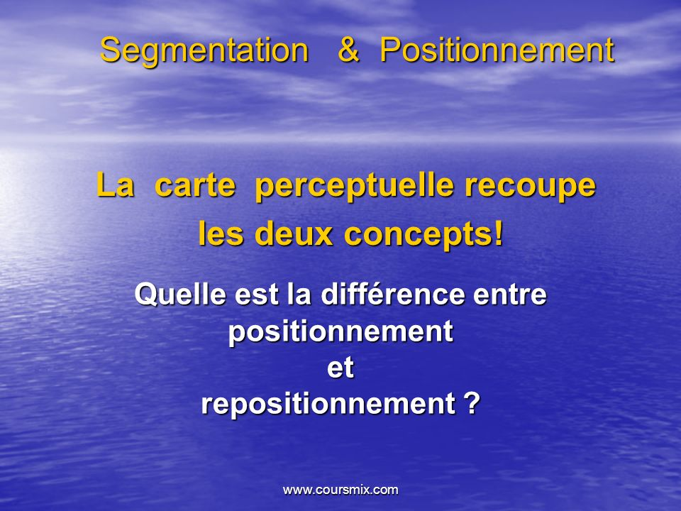 Segmentation & Positionnement