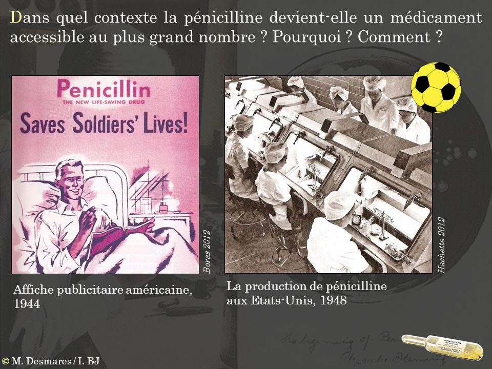 Dans quel contexte la pénicilline devient-elle un médicament accessible au plus grand nombre Pourquoi Comment