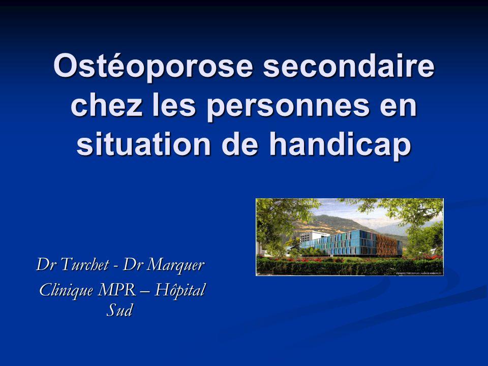 Ostéoporose secondaire chez les personnes en situation de handicap