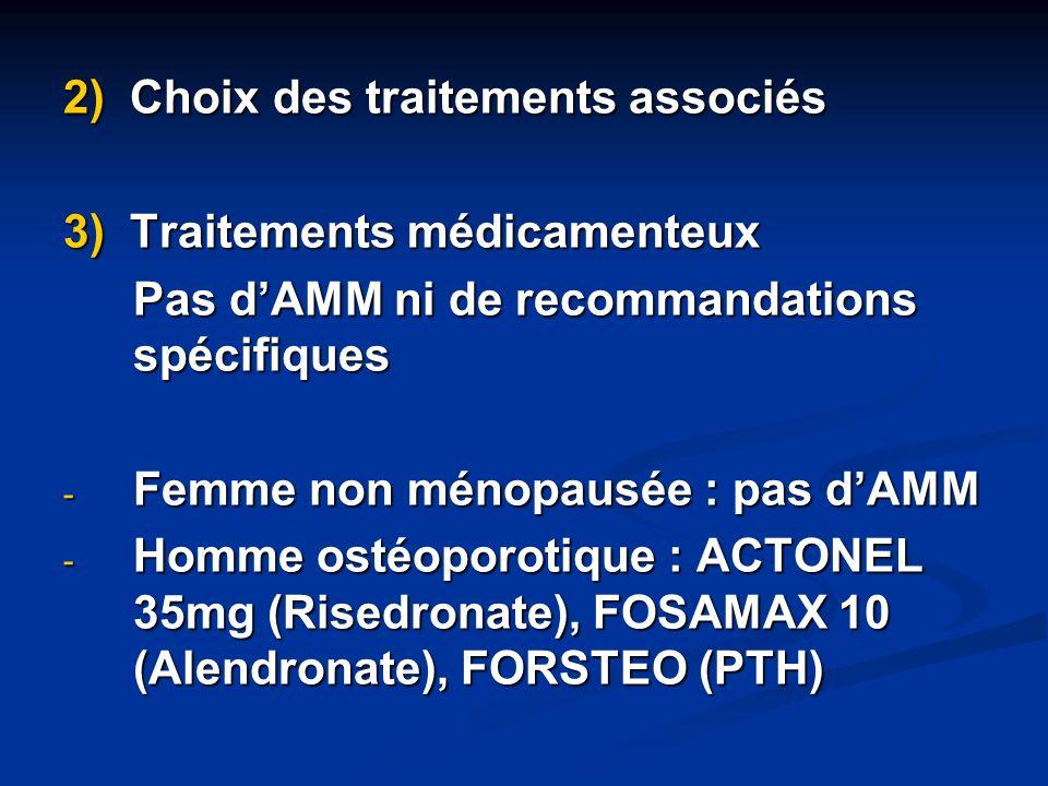 2) Choix des traitements associés