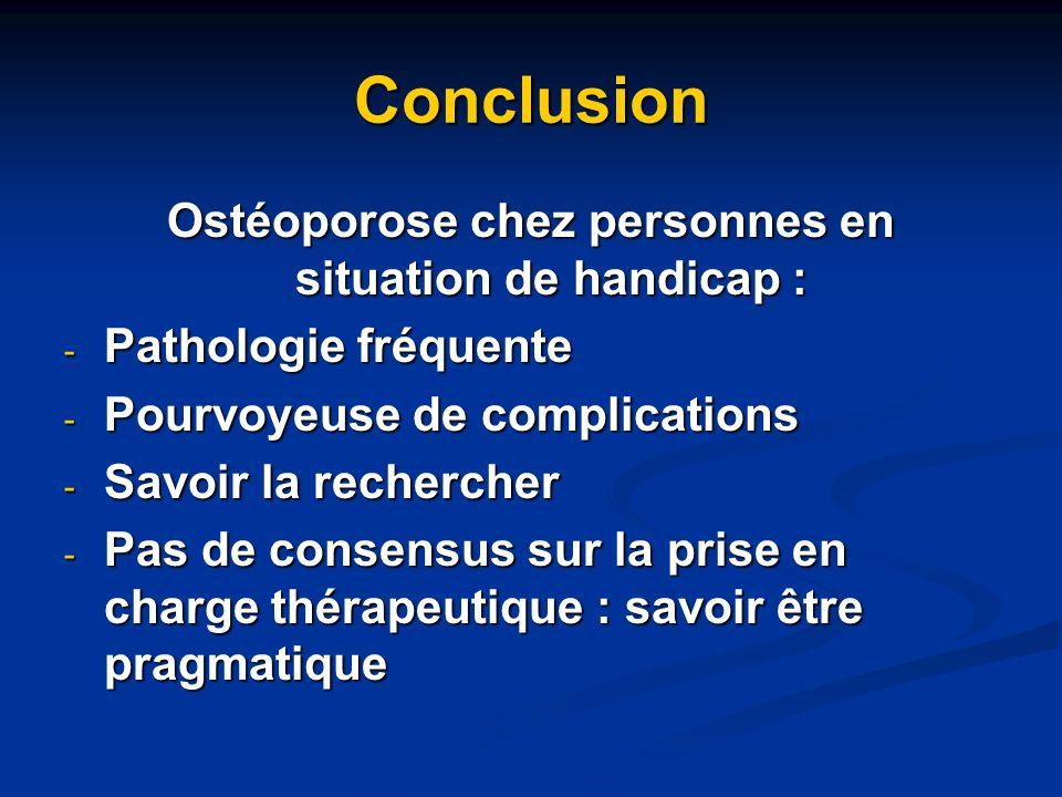 Ostéoporose chez personnes en situation de handicap :