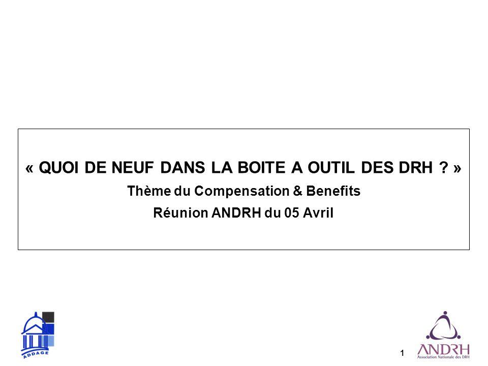« QUOI DE NEUF DANS LA BOITE A OUTIL DES DRH »