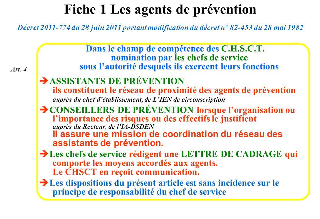 Fiche 1 Les agents de prévention