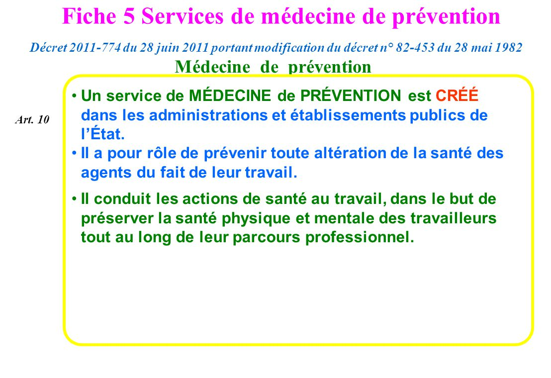 Médecine de prévention