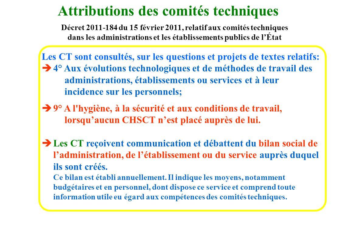 Attributions des comités techniques