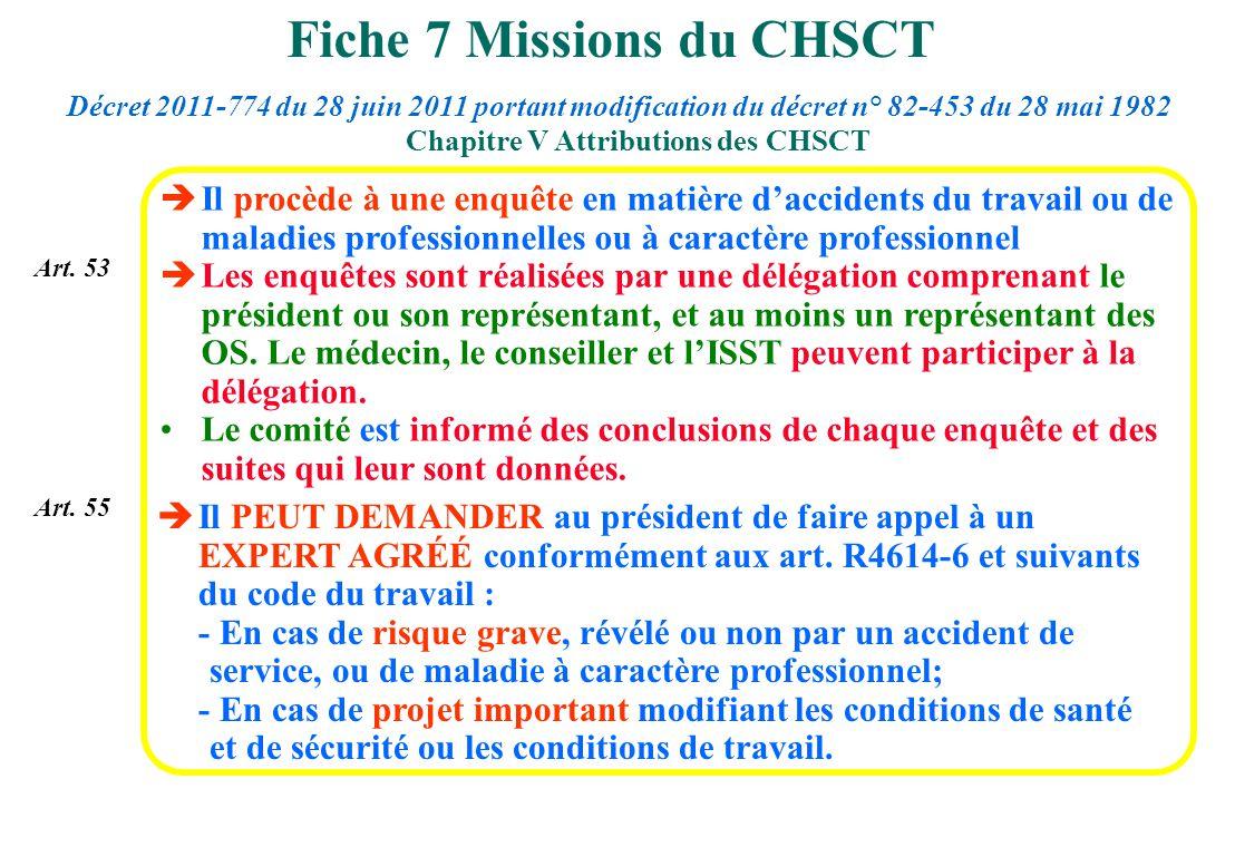 Fiche 7 Missions du CHSCT
