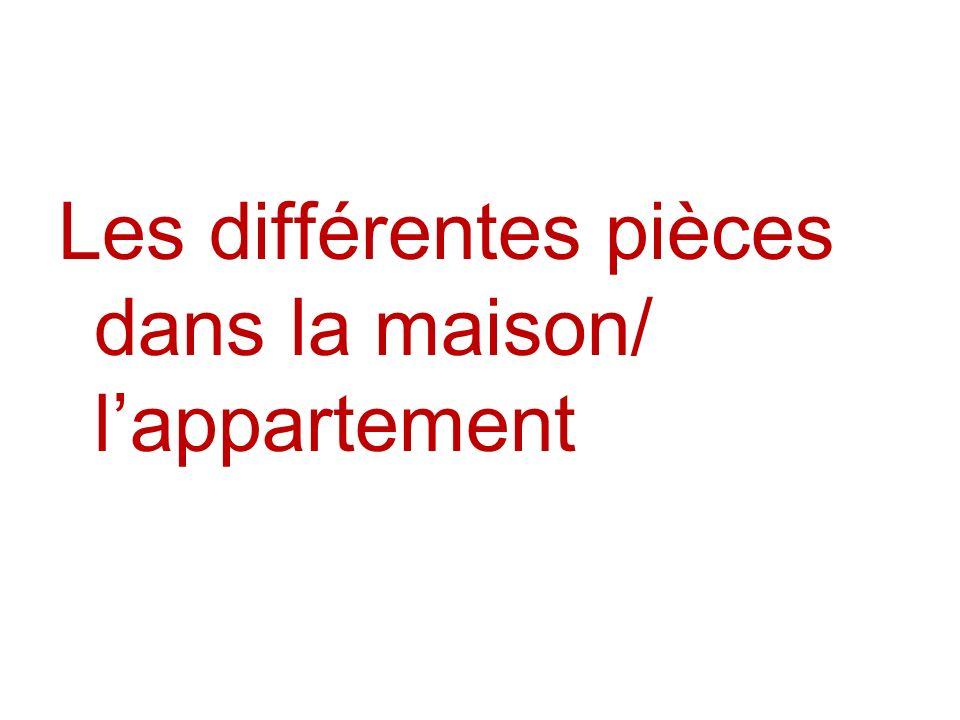Les différentes pièces dans la maison/ l'appartement