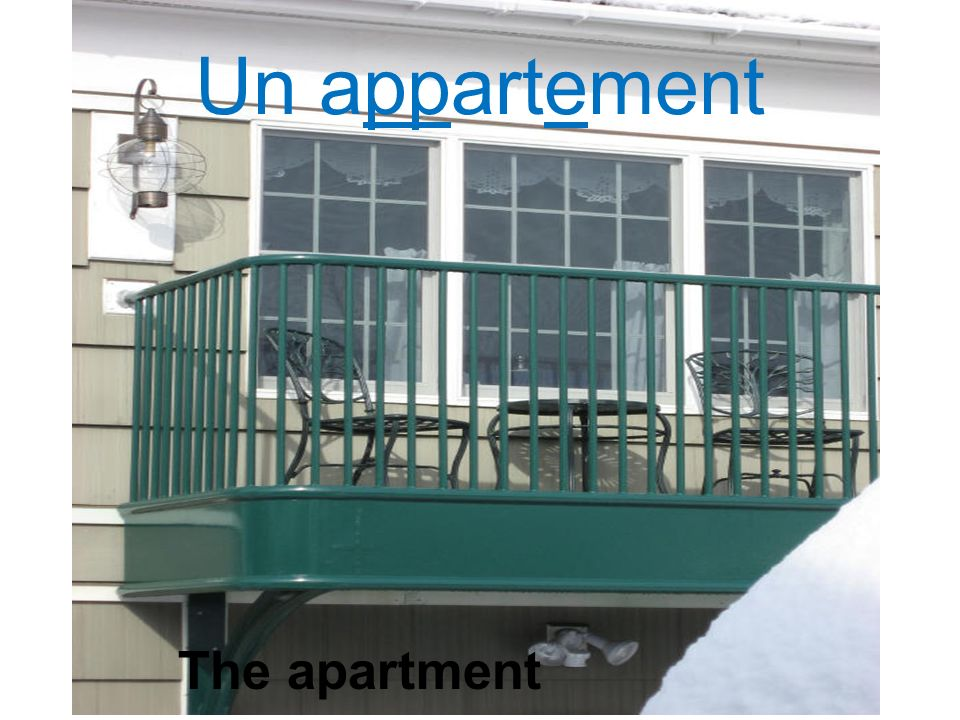 Un appartement The apartment