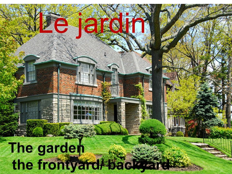 Le jardin The garden the frontyard/ backyard