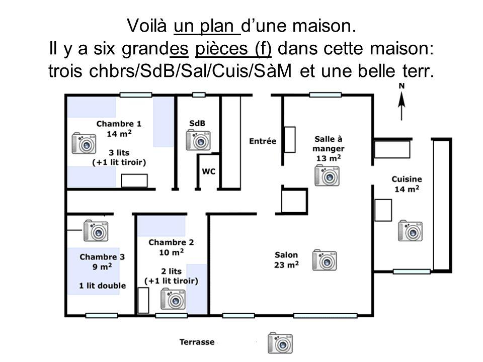 Voilà un plan d'une maison