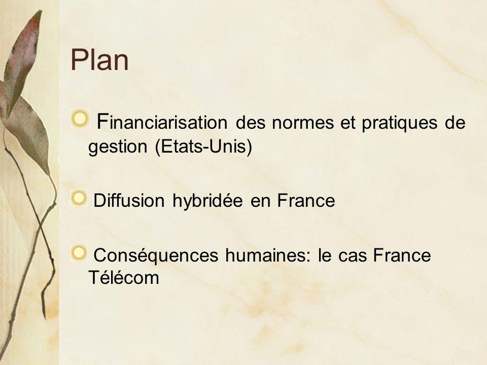 Plan Financiarisation des normes et pratiques de gestion (Etats-Unis)