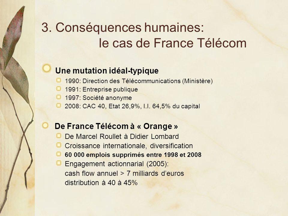 3. Conséquences humaines: le cas de France Télécom