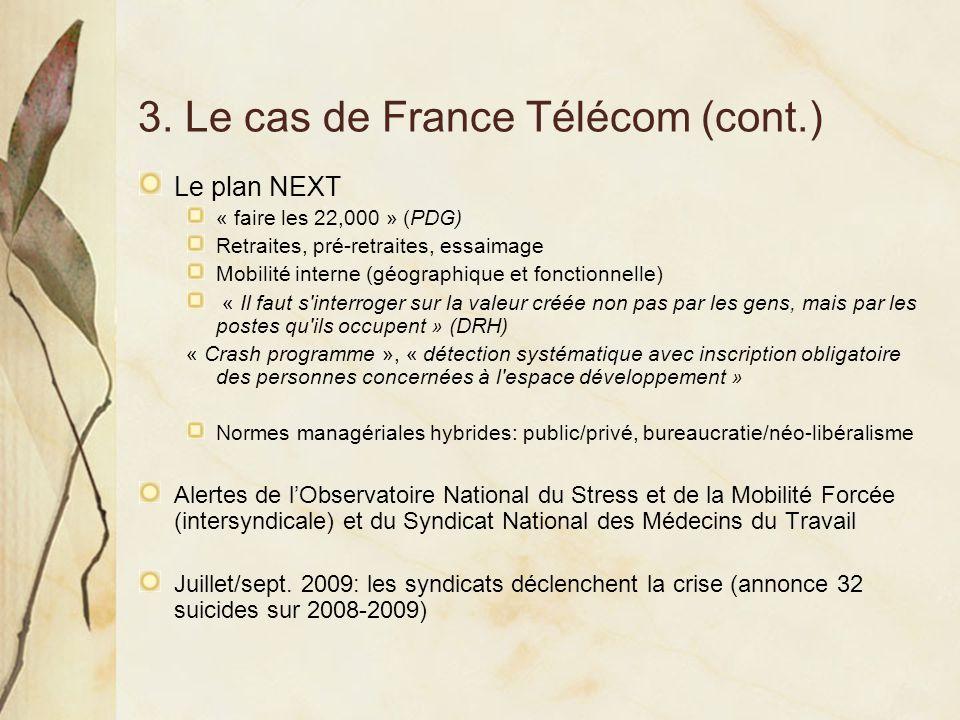 3. Le cas de France Télécom (cont.)