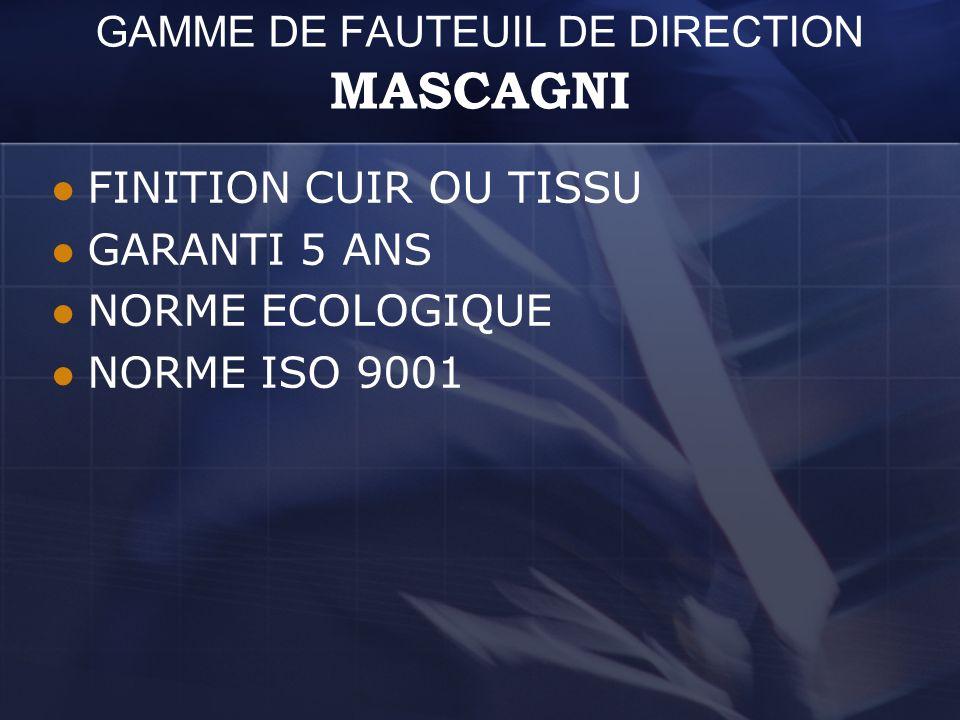 GAMME DE FAUTEUIL DE DIRECTION MASCAGNI