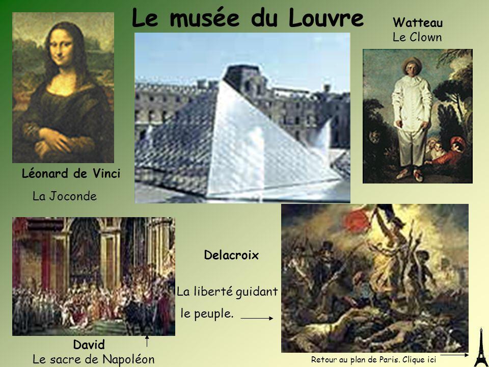 Le musée du Louvre Léonard de Vinci Watteau Le Clown La Joconde