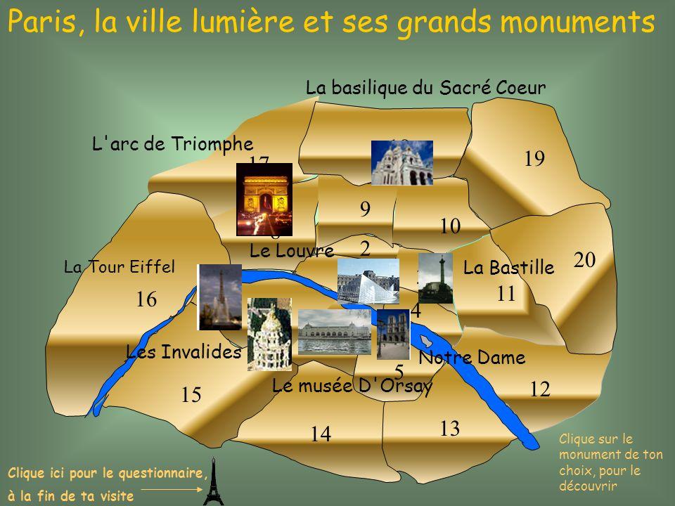 Paris, la ville lumière et ses grands monuments