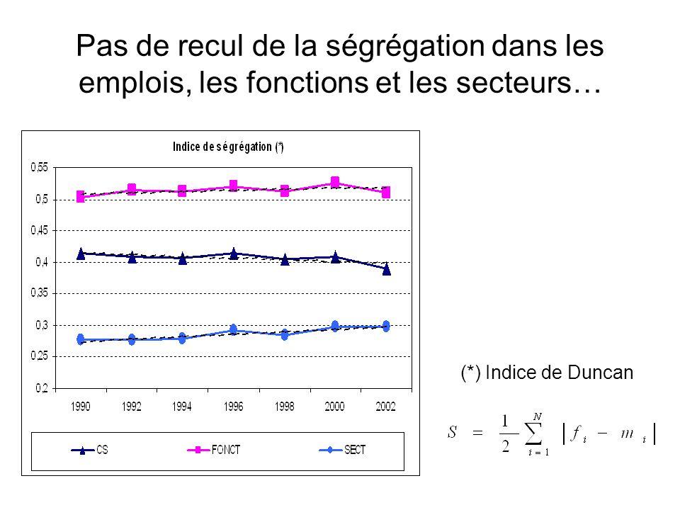 Pas de recul de la ségrégation dans les emplois, les fonctions et les secteurs…