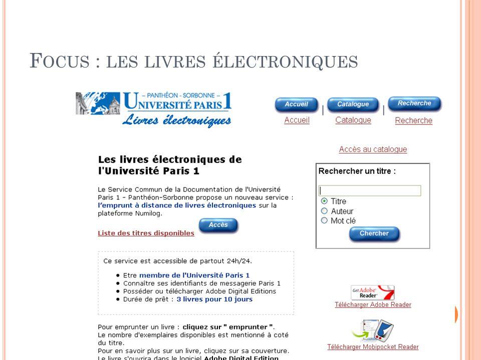 Focus : les livres électroniques