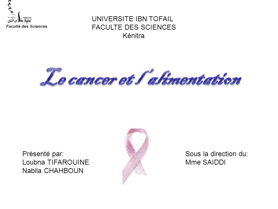 Le cancer et l'alimentation