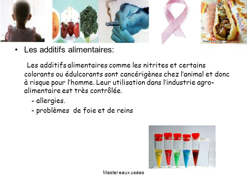 Les additifs alimentaires: