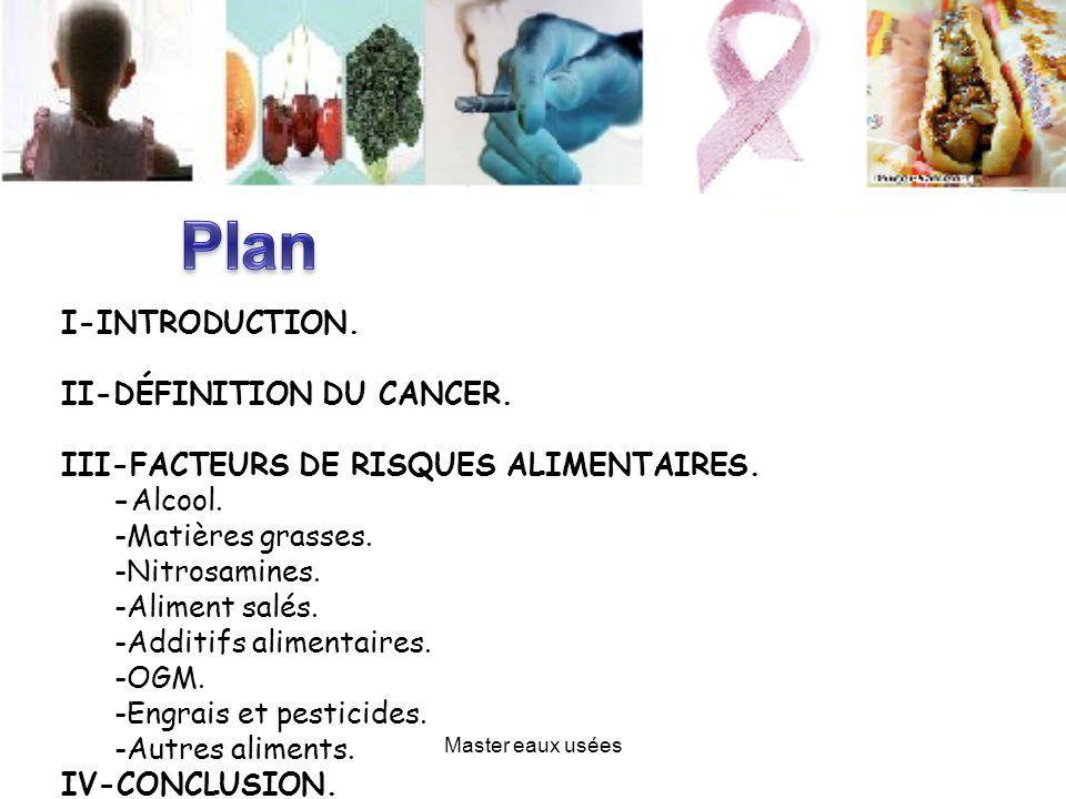 Plan I-INTRODUCTION. II-DÉFINITION DU CANCER.