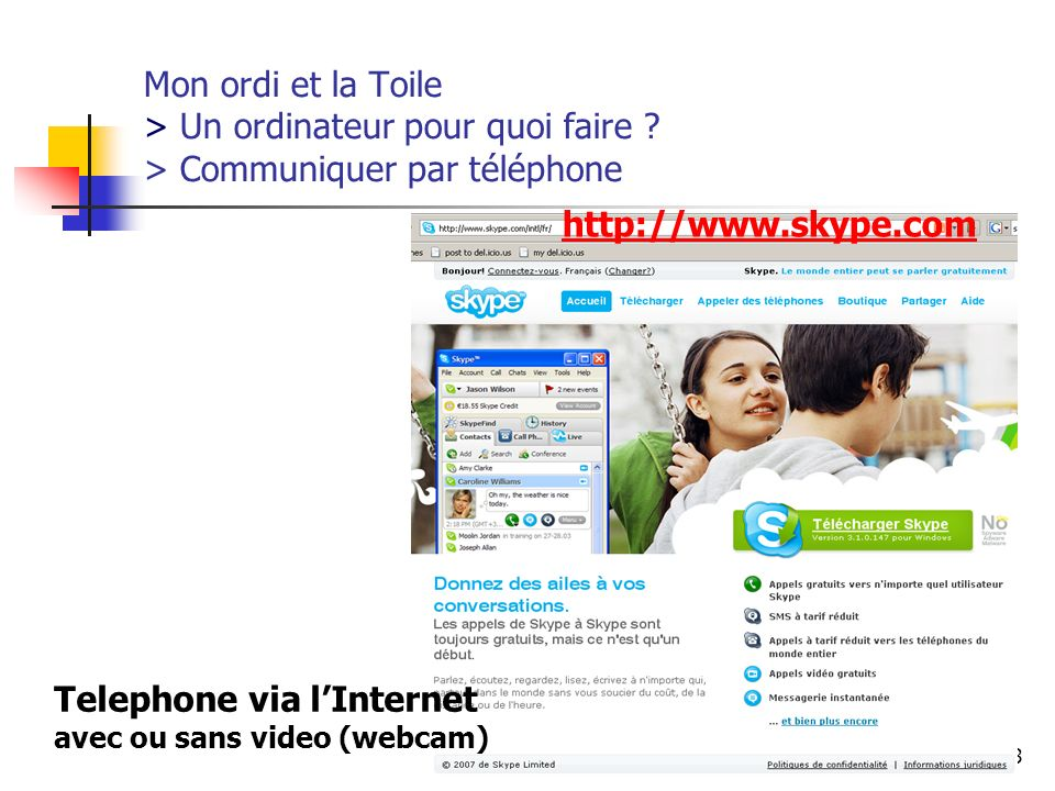 Telephone via l'Internet