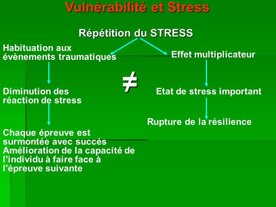 Vulnérabilité et Stress Rupture de la résilience