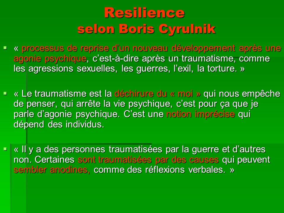 Resilience selon Boris Cyrulnik
